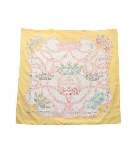 HERMES SCARF ' LE SACRE DU PRINTEMPS ' yellow