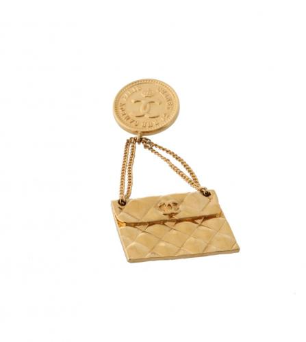 CHANEL BAG CHARM BROOCH