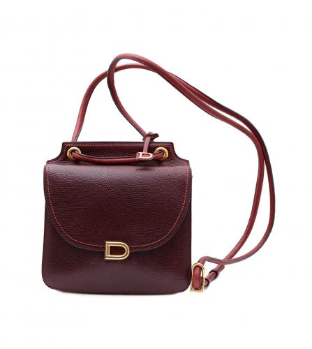 DELVAUX BORDEAUX SHOULDER BAG
