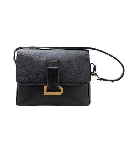DELVAUX NAVY SHOULDER BAG