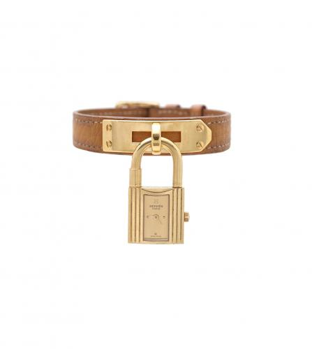 HERMES KELLY WATCH SAFRAN COLOR BELT