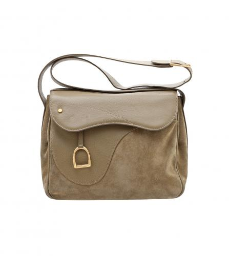 GUCCI VINTAGE SUDDLE SHOULDER BAG