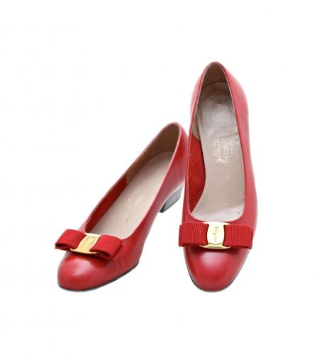 FERRAGAMO VARA RED SHOES