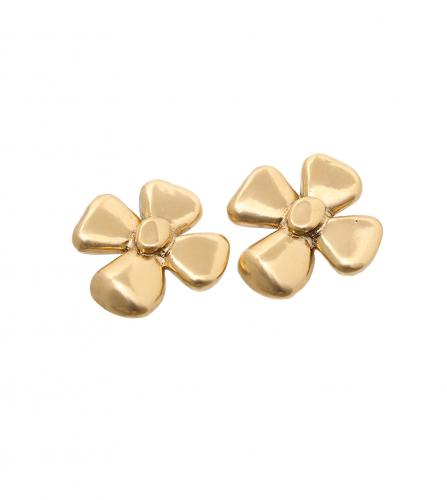YSL FLOWER CLIPED EARRINGS