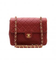 CHANEL VINTAGE RED SHOULDER