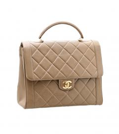 CHANEL BEIGE FLAP BAG