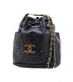 CHANEL VINTAGE CC BUCKET TOTE BAG