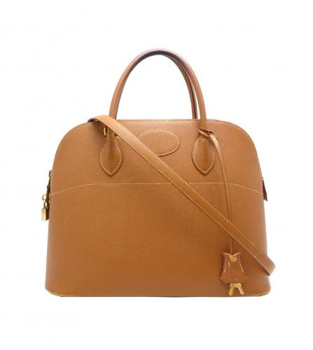 HERMES BOLIDE 35 GOLD BAG