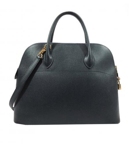 HERMES BOLIDE 35 NAVY BAG