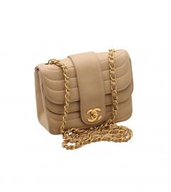 CHANEL 17cm BEIGE SHOULDER