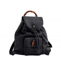 GUCCI BAMBOO BACK PACK BLACK