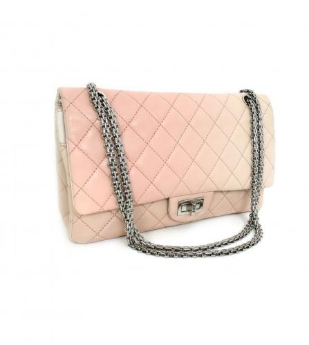 CHANEL PINK GRADATION 2.55 SILVER CHAIN SHOULDER