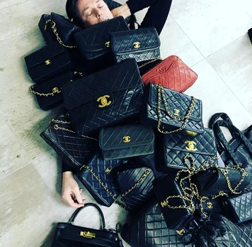 Our Fashion Buyer Sacha covered by Vintage Chanel Bags