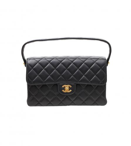 CHANEL BLACK DOUBLE FACE FLAP BAG