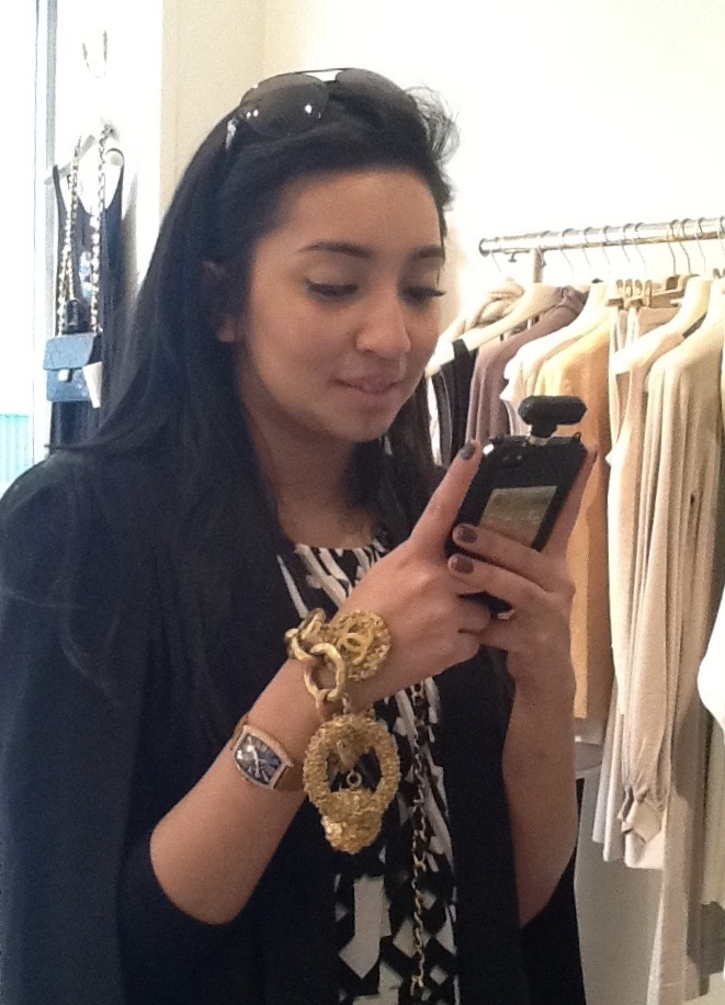 Our Fashionista customer wear a huge Chanel Charm Bracelet
