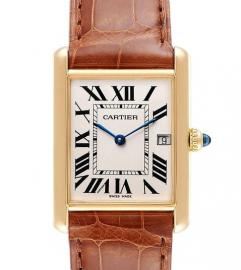 CARTIER TANK LOUIS ROSE GOLD WATCH
