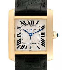 CARTIER TANK FRANÇAISE YELLOW GOLD WATCH