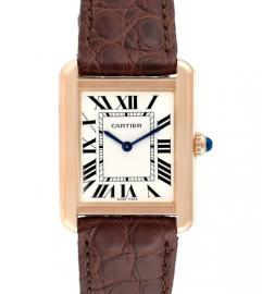 CARTIER TANK SOLO ROSE GOLD WATCH
