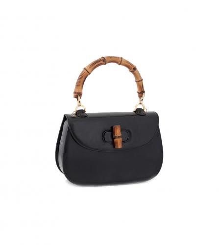 GUCCI BAMBOO HANDBAG SHOULDER BLACK
