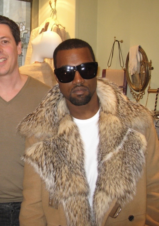 Kanye West with our Expert Buyer Sacha at Vintage Paris