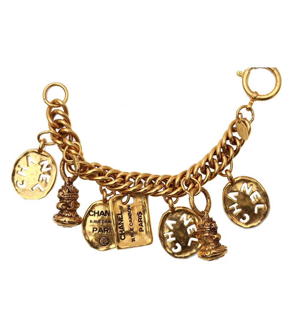 Chanel Logo 7 Charm Vintage Bracelet