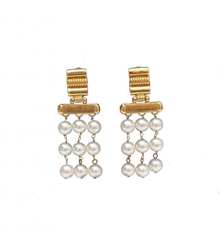 YSL PEARL EARRINGS