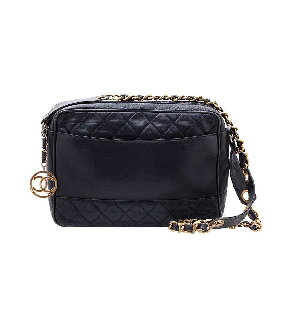 Chanel vintage cc logo zipper shoulder bag vintage paris - Vintage chanel ...