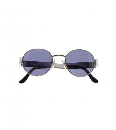 CHANEL VINTAGE BLUE TONED SUNGLASSES