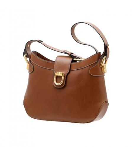 DELVAUX BROWN SHOULDER BAG