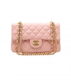 CHANEL 2.55 PINK DOUBLE FLAP BAG