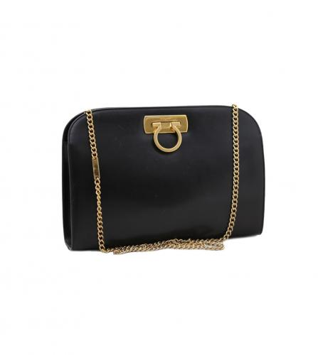 FERRAGAMO GANCINI CLUTCH SHOULDER BAG