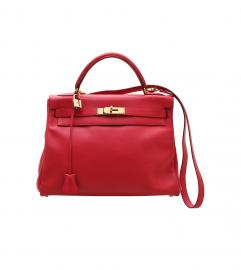 HERMES KELLY BAG 32 RED
