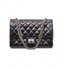 CHANEL BLACK PATENT 2.55 SHOULDER BAG