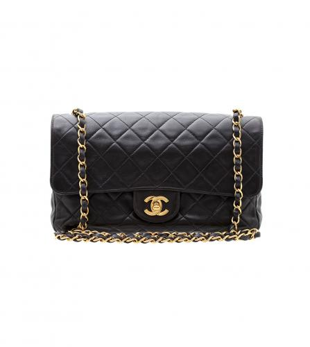 CHANEL BLACK SOFT FLAP BAG