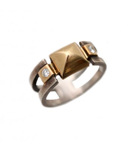 HERMES MEDOR w.diamonds RING