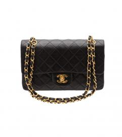 CHANEL 2.55 23cm BLACK SHOULDER
