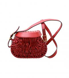 Bottega Veneta Red Raffia shoulder