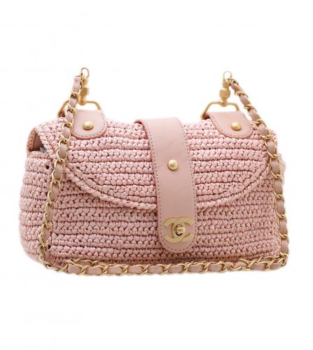 CHANEL RAFFIA FLAP BAG