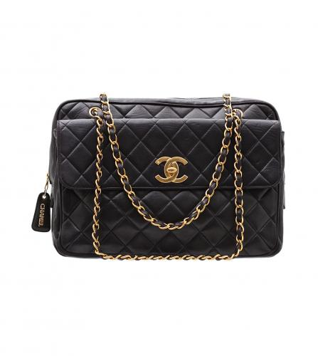 CHANEL MAXI BLACK FLAP BAG