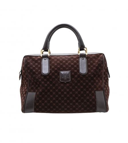 CELINE VINTAGE DARK BROWN BOSTON