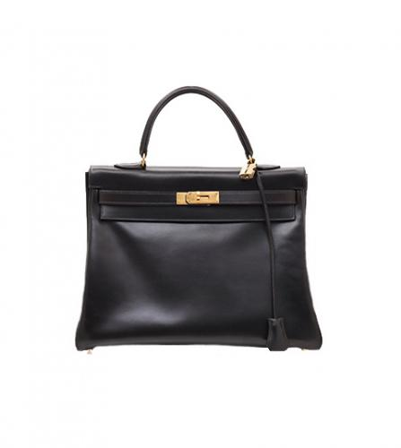 HERMES BLACK BOX KELLY 35