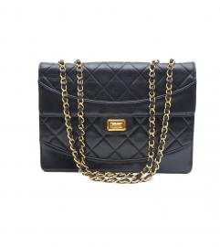 CHANEL 2.55 BLACK FLAP BAG