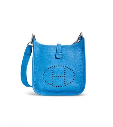 HERMES BLUE EVELYNE BAG