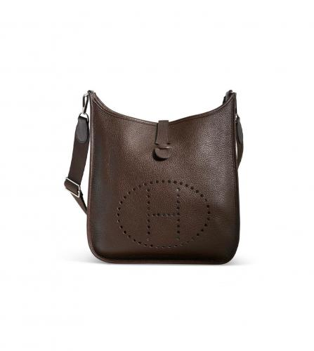 HERMES CHOCOLATE EVELYNE BAG