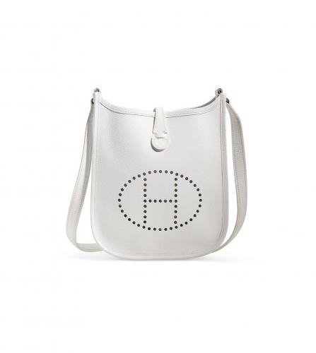 HERMES WHITE EVELYNE BAG