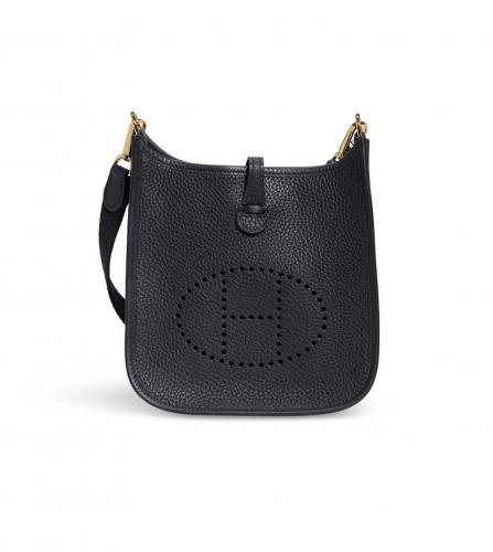 HERMES BLACK EVELYNE BAG