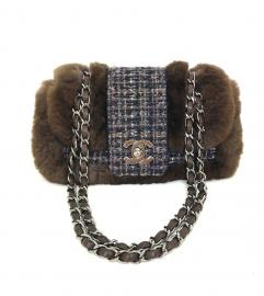 CHANEL TWEED & FAR FLAP BAG