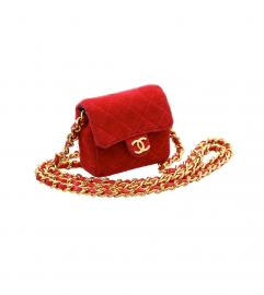 CHANEL RED MINI MINI CHARM BAG