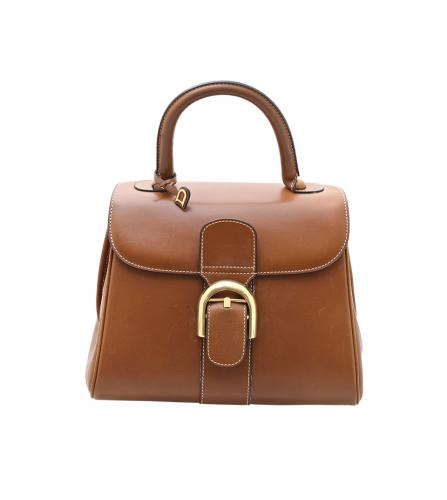 DELVAUX BRILLANT CAMEL LEATHER BAG
