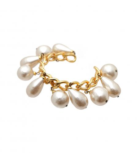 CHANEL PEARL BANGLE